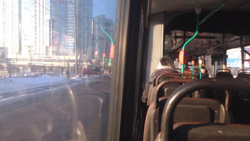Троллейбус ЗиУ-683 БМ-1 б.1102 по маршруту №45 (21.02.2018) Санкт-Петербург