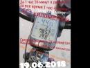 40 километров 19.06.2018 Общий пробег велосипеда 1980 километров