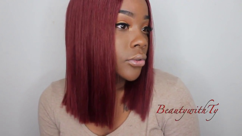 MarchQueen 33 Copper Red Hair Blunt Bob One Month Update