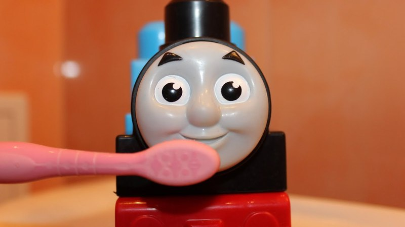 Senya pretend play with Toy Trains, Funny Kids videos with Thomas and Friends Toys