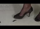 Crush bug black nylon and sandals