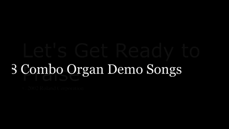 Roland VK-8 Hammond clone organ - Official Demo Songs