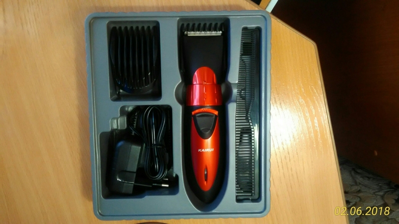 Водонепроницаемая, безпроводная машинка для волос