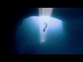 Freediving the cave of light, Ibiza