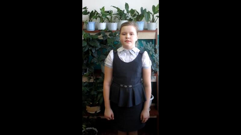 Участница акции Живая вода - Воронина Алина, ученица 4 класса СОШ №2 г. Никольска.