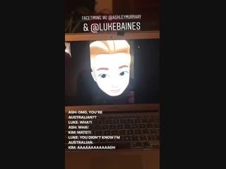 Pre trip FaceTime is mandatory...@KSueMurray @LukeBaines FriendshipGoals - ShadowFam