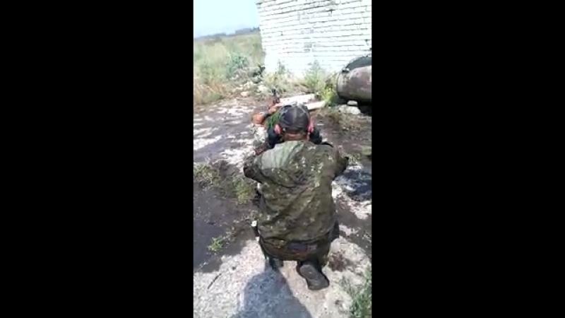 КСОВД Казак Кубанский стреляет из Утеса по камазу с БК. Грабское, Иловайск 11.08