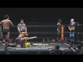 Shunma Katsumata, Yuki Ueno, Daiki Shimomura vs. Takatimo Dragon, Hiratimo Dragon, Toru Owashi (DDT - Road to Ryogoku 2018 ~ Dra
