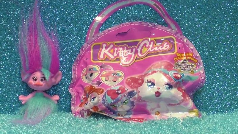 Куклы Играют С Котенком из Китти Клаб Kitty Klab Кукла Розочка Открывает Игрушку Мультики Про Кукол