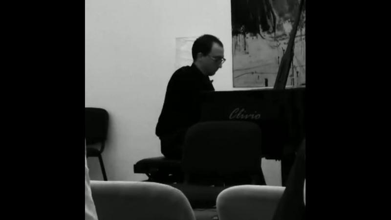 И С Бах Прелюдия из Сюиты №2 для виолончели соло Фрагмент моей транскрипции для фортепиано соло