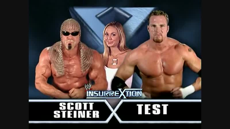 Scott Steiner Vs Test - Val Venis As GUest Referee - Insurrextion 2003
