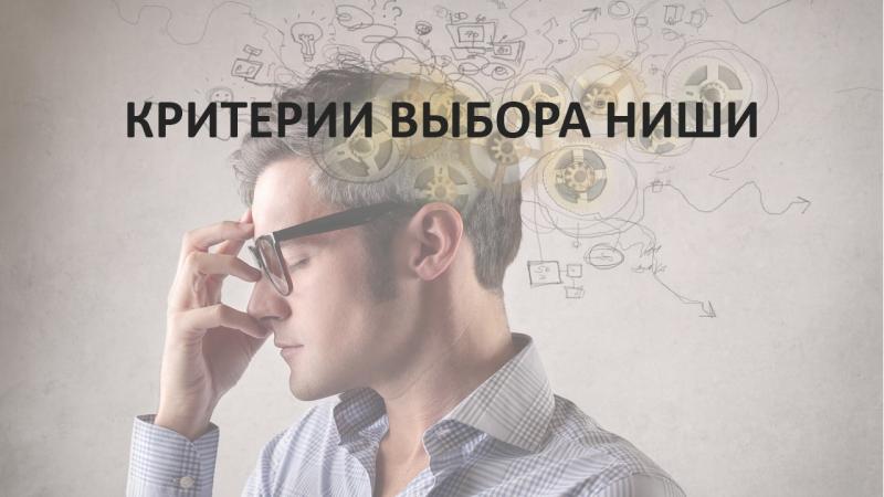 Интернет Бизнес - Вводный Курс. Критерии выбора ниши