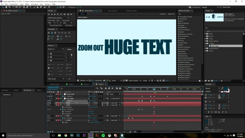 Caleb Lancaster BEGINNER'S Kinetic Typography After Effects Tutorial