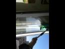 Моем окно шваброй Aquamatic Mop