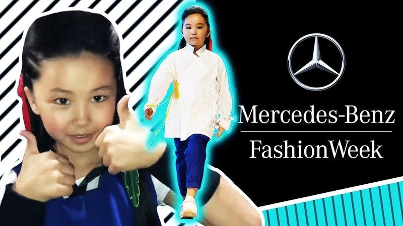 Аминка Витаминка и Адека Персик на подиуме ! 😍 Mercedes Benz fashion week show! 😎 Funny kids
