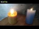 Свеча из воска и парафина