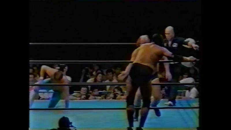 1992.10.11 - Jumbo Tsuruta/Giant Baba/Dory Funk Jr. vs. Steve Williams/Terry Gordy/Richard Slinger [JIP]