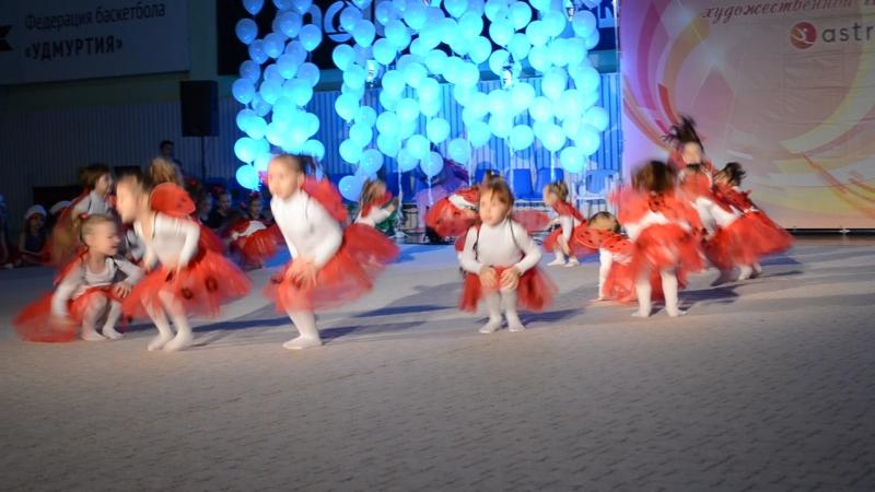 выступление нашей доченьки! юные гимнастки!