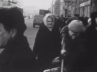 Любительская киносъемка ленинграда. декабрь, 1968 год.