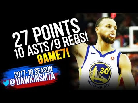 Stephen Curry Full Highlights 2018 WCF GM7 Golden State Warriors vs Rockets - 27-10-9! | FreeDawkins