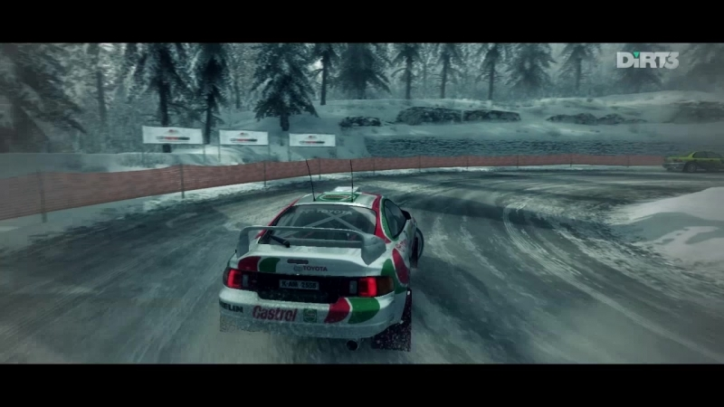 Dirt 3 gameplay - Col St Roch. Toyota Celica GT-FOUR Group A shakedown.