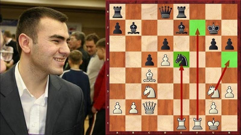 Шахматы. КАСКАД ЖЕРТВ в исполнении молодого Шахрияра Мамедьярова!