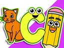 C is for Cat | Level 2 Upper Case C | Babies Toddlers Learn ABCs, Preschool Teacher, Daycare