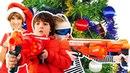Челлендж - игрушки для мальчиков Нерф против трансформеров! Маша КапукиКануки и Игробой Адриан