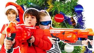 #Челлендж - игрушки для мальчиков: Нерф против трансформеров! Маша #КапукиКануки и #Игробой Адриан
