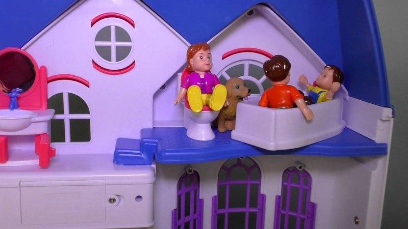 Кукольный Домик My Happy Family Волшебный Мир Игрушек для Девочек Dollhouse Тoys for Girls Unboxing