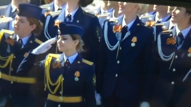 Даша участвует в Пораде Победы
