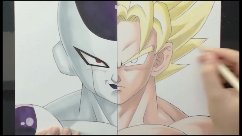 Dragon Boll Z OST Goku Vs Freeza Speed Drawing Theneme