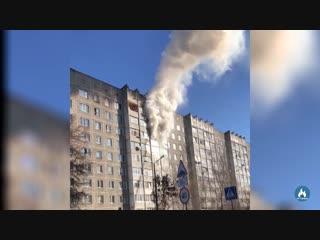 Сюжет Пожар по ул. Сухого 8 17.11.2018