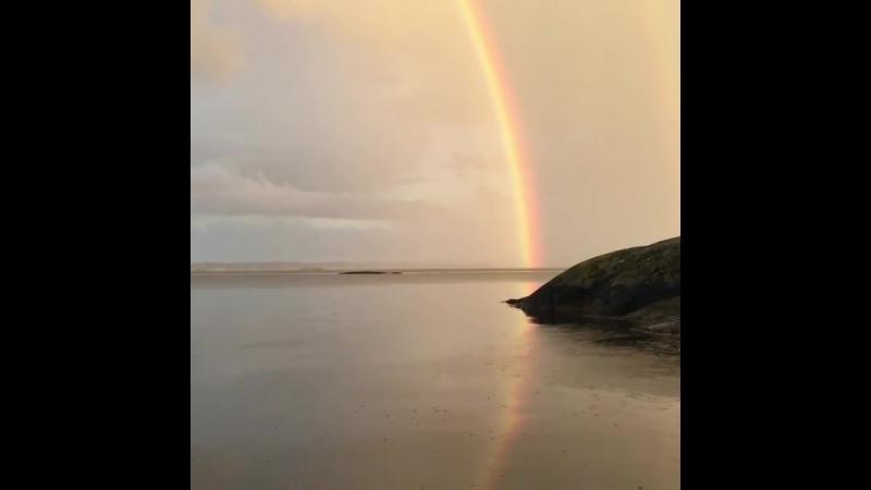 Радуга у Гётеборгского архипелага