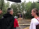 Артур Парфенчиков на открытии парка «KALEVALA»