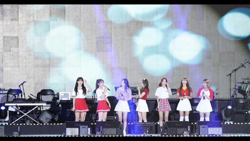 · Fancam · 180904 · OH MY GIRL - Secret GardenTalkA-ingTalkJe T'aime · 42nd Yeonggwang County's Day - MBC Gayo Best ·