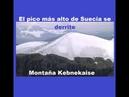 ESTOCOLMO/SUECIA: Montaña Kebnekaise ya no es el punto más alto de Suecia. Se ha venido derritiendo