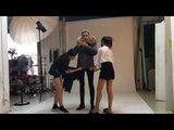 MeiFng Women Fur Lined Parka live Video(color block raccoon fur hood)