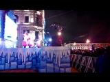 Новогодняя ночь 2018 Невский проспект, выступает фольк-шоу группа Колесо- Чёрная редька
