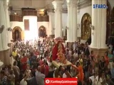 Ganapati being welcomed in a Church by Father