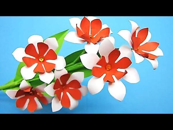 Paper Flower Stick 25 DIY Paper Craft Handcraft JULIA`s flowers