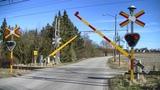 Spoorwegovergang Oxie (S) Railroad crossing J