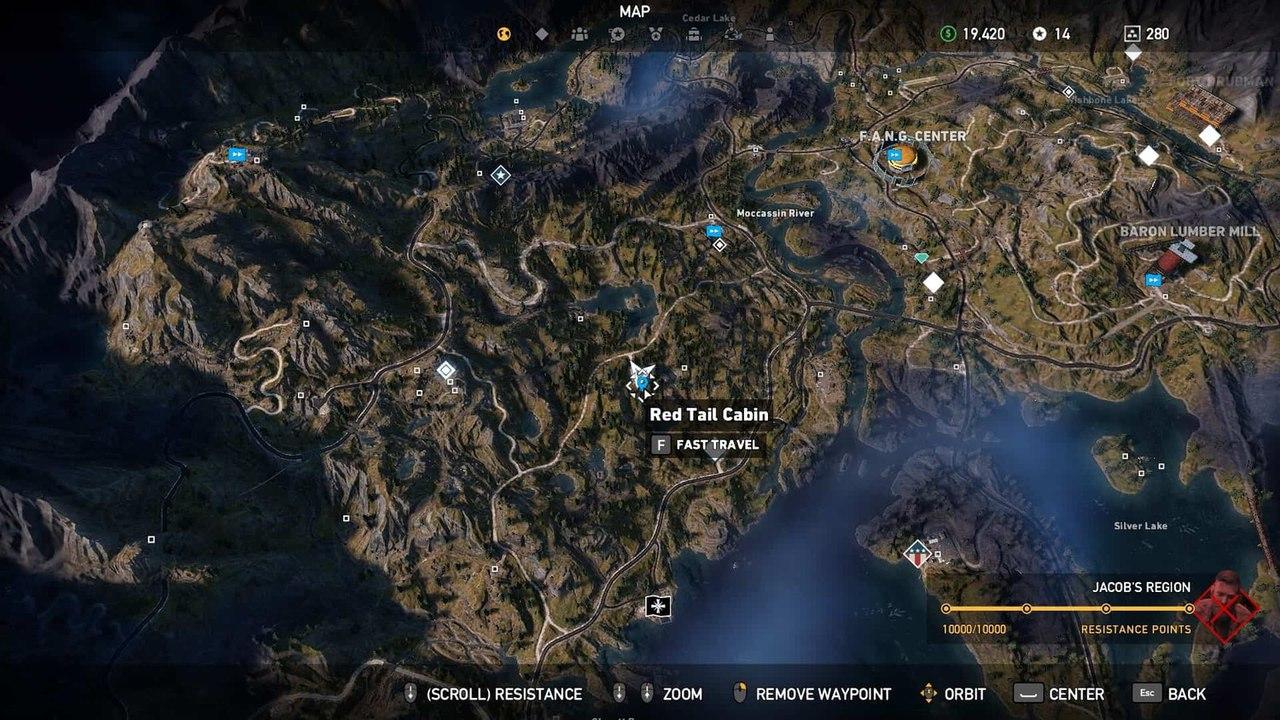резиденция Красного хвоста в Far Cry 5