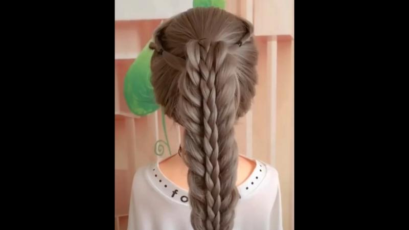 Легкая прическа с косой