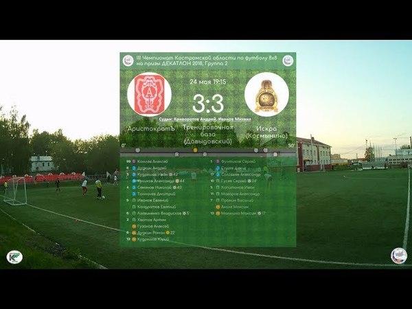 АристократЪ - Искра (Космынино) 3:3 III Чемпионат Костромской области (8х8) (24.05.18) камера 1