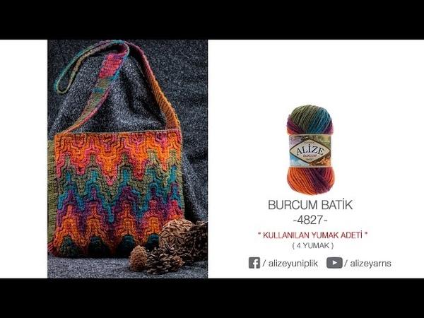Alize Burcum Batik ile Çanta Yapımı Making Bag with Alize Burcum Batik