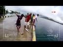 Çocukların kıyıdan balık avı