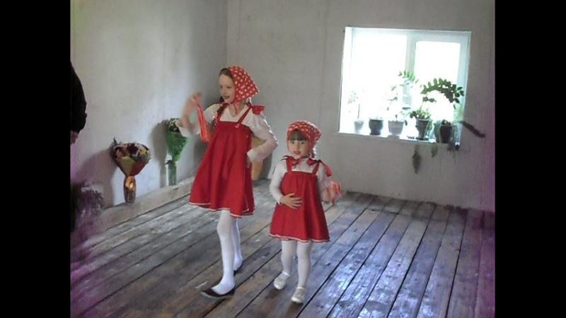 Танец от Евы и Яны. Русские матрёшечки. На юбилее у тёти Тамары в деревне. 2018