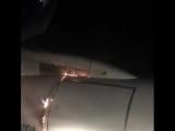 Загорелся двигатель самолёта