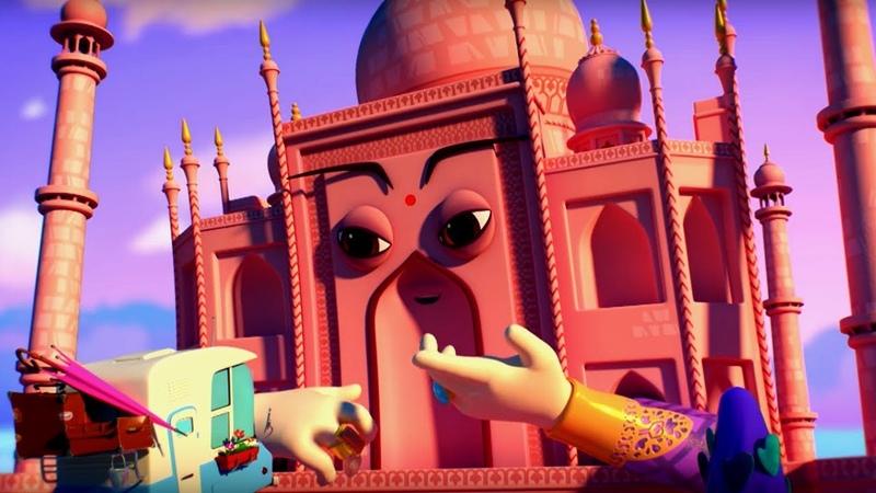 Домики – Тадж-Махал - серия 3 - увлекательные мультики про путешествия